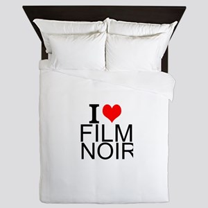 I Love Film Noir Queen Duvet