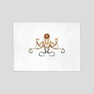 Steampunk Bronze Octopus 5'x7'Area Rug