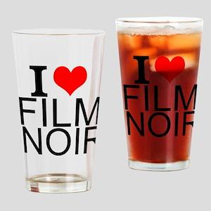 I Love Film Noir Drinking Glass