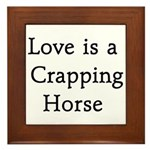 Crapping Horse Framed Tile