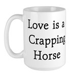 Crapping Horse Large Mug