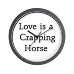 Crapping Horse Wall Clock