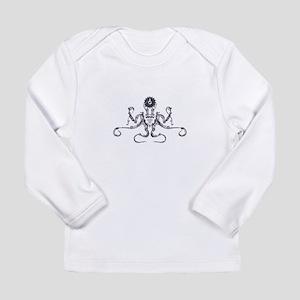 Steampunk Silver Octopus Long Sleeve T-Shirt
