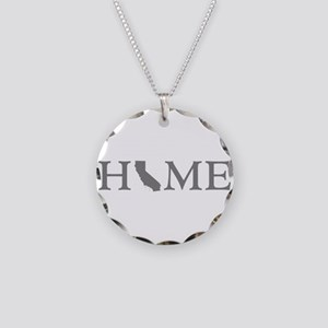 California Home Necklace Circle Charm