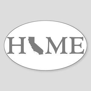 California Home Sticker (Oval)