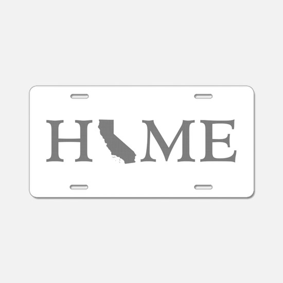 California Home Aluminum License Plate
