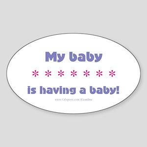 My Baby Oval Sticker