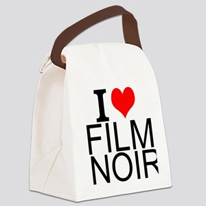 I Love Film Noir Canvas Lunch Bag