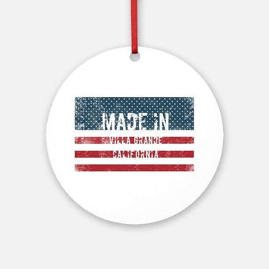 Made in Villa Grande, California Round Ornament