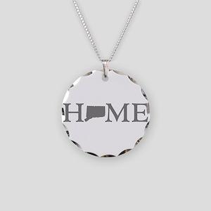 Connecticut Home Necklace Circle Charm