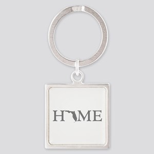 Florida Home Square Keychain