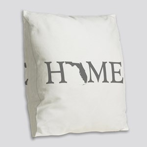 Florida Home Burlap Throw Pillow
