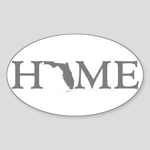 Florida Home Sticker (Oval)