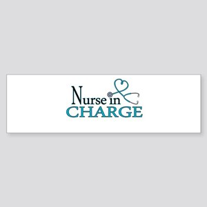 Nurse in Charge - Blue Sticker (Bumper)