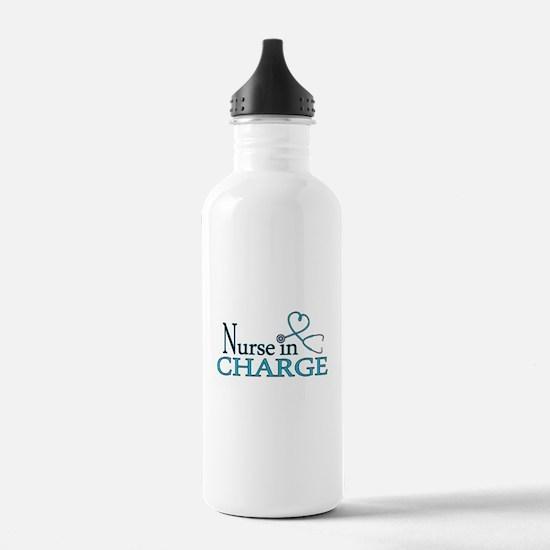 Nurse in Charge - Blue Water Bottle