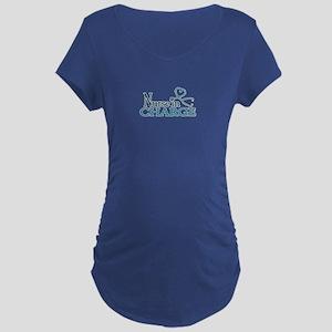 Nurse in Charge - Blue Maternity Dark T-Shirt