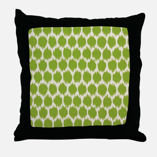 Funky green spot Throw Pillow