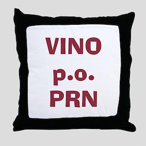 Vino p.o. PRN Throw Pillow