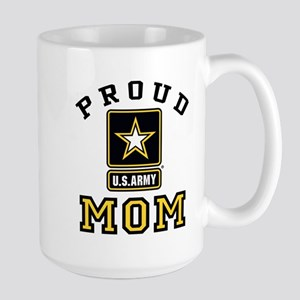 Proud U.S. Army Mom Large Mug