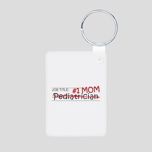 Job Mom Pediatrician Aluminum Photo Keychain
