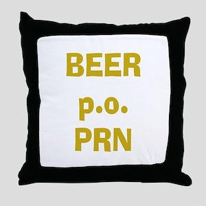 Beer p.o. PRN Throw Pillow