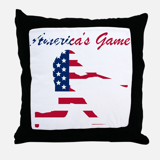 Baseball Batter Americas Game Throw Pillow