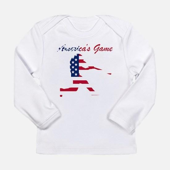 Baseball Batter Americas Game Long Sleeve T-Shirt