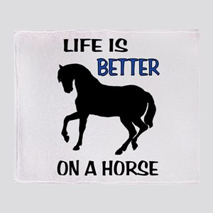 HORSE LOVE Throw Blanket
