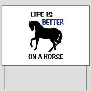 HORSE LOVE Yard Sign