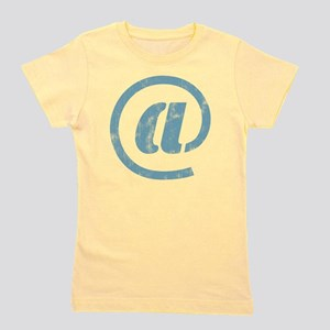 """""""at"""" Sign Girl's Tee"""