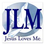 Jesus Loves Me Square Car Magnet 3