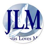 Jesus Loves Me Round Car Magnet