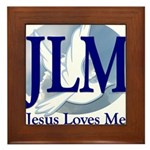 Jesus Loves Me Framed Tile