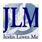 Jesus Loves Me Tile Coaster