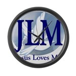 Jesus Loves Me Large Wall Clock