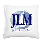 Jesus Loves Me Square Canvas Pillow