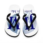 Jesus Loves Me Flip Flops