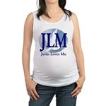 Jesus Loves Me Maternity Tank Top