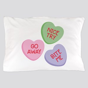 Nice Try Heart Candy Pillow Case