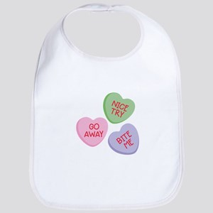 Nice Try Heart Candy Bib
