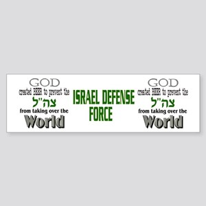 IDF and Beer Sticker (Bumper)