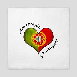 Portuguese heart Queen Duvet