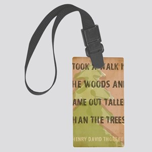 Thoreau Walk In The Woods Quote Large Luggage Tag