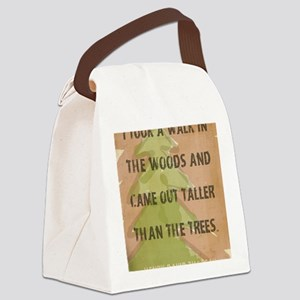 Thoreau Walk In The Woods Quote Canvas Lunch Bag