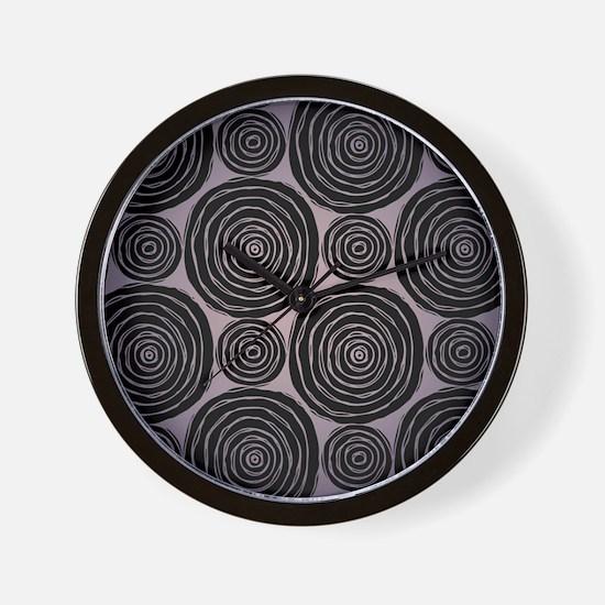 Tribal Circles Wall Clock