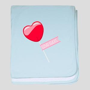 Love Sucks Lollipop baby blanket
