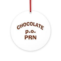 Chocolate p.o. PRN Ornament (Round)