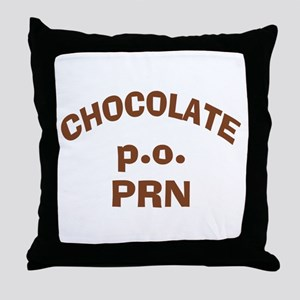 Chocolate p.o. PRN Throw Pillow