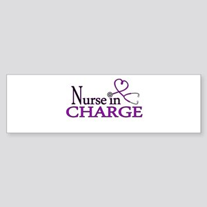 Nurse in Charge - Purple Sticker (Bumper)