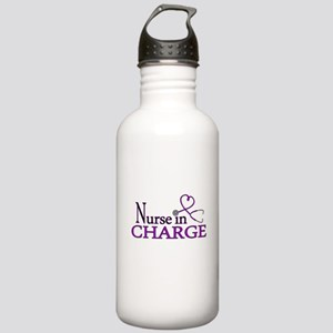 Nurse in Charge - Purp Stainless Water Bottle 1.0L